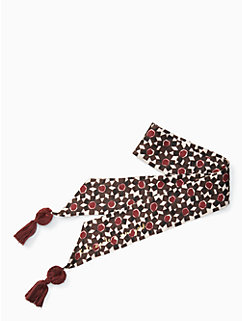 floral tile silk skinny scarf by kate spade new york