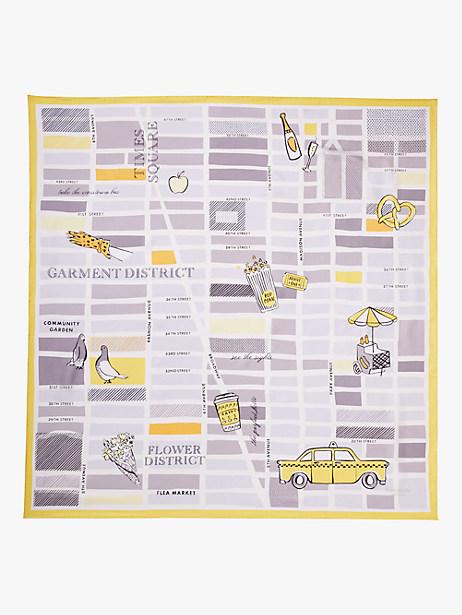 taxi square scarf by kate spade new york