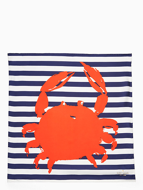 crab silk square scarf by kate spade new york