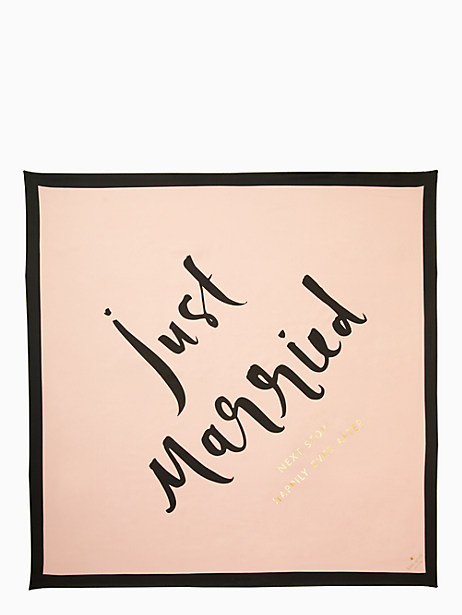 just married silk square scarf by kate spade new york