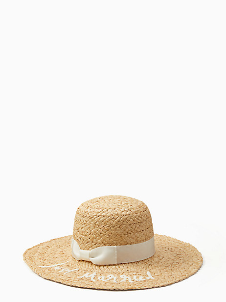 just married sunhat by kate spade new york