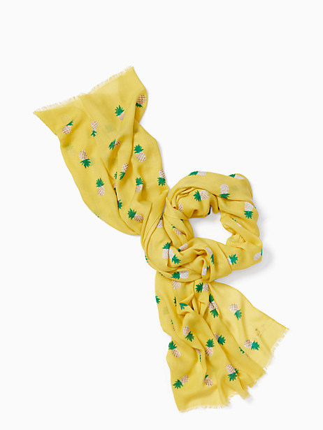 pineapple oblong scarf by kate spade new york