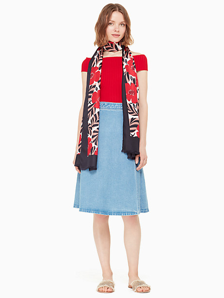 poppy field silk oblong scarf by kate spade new york