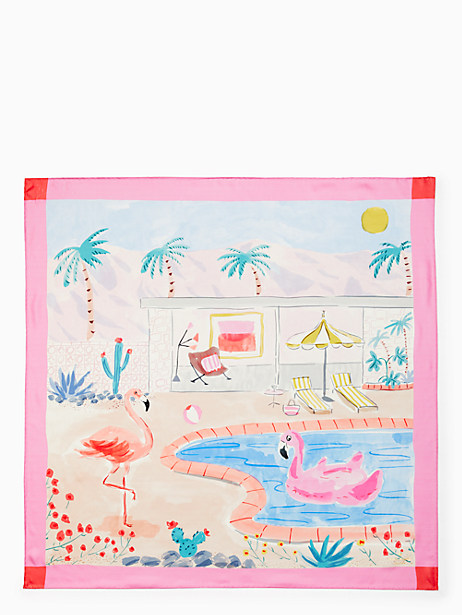 palm springs pool silk square scarf by kate spade new york