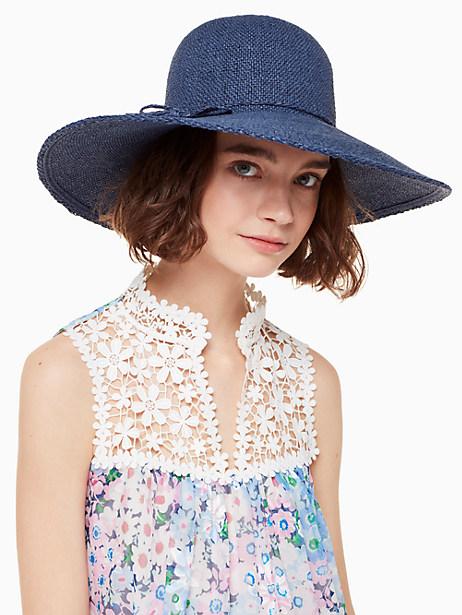 Kate Spade Solid Woven Sunhat, Rich Navy
