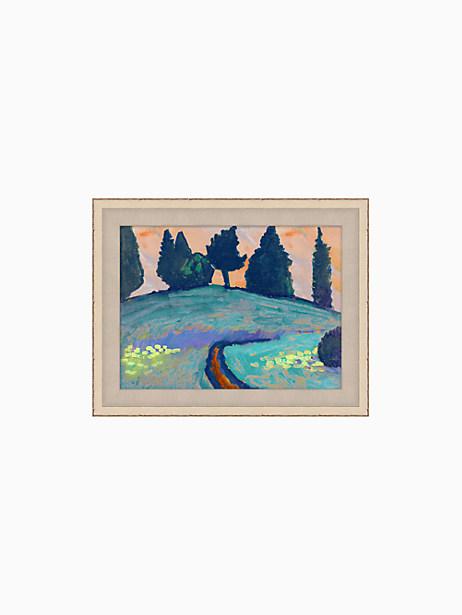 Kate Spade Blue Landscape, Indigo, Purple, Yellow, Green, Orange, Cream