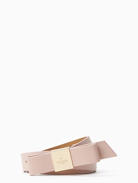 Kate Spade 1 Bow Belt, Dolce/Pale Pol Gold - Size M