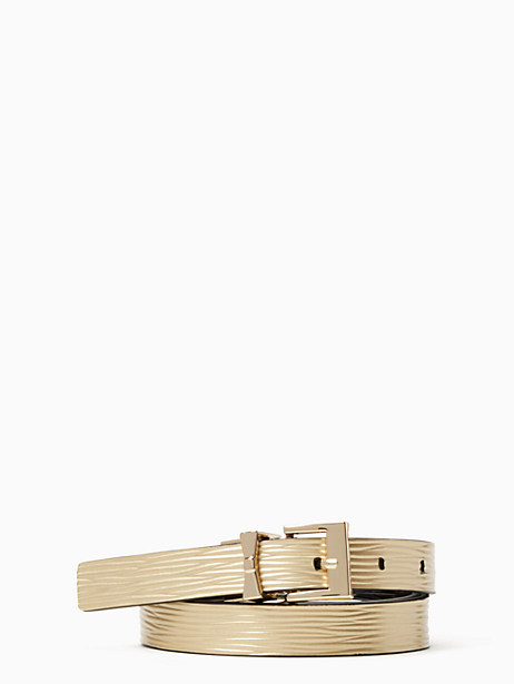Kate Spade 3/4 Reversible Leather Belt, Black/Gold/Pale Pol Gold - Size S