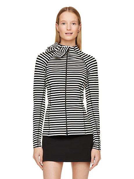 Bow Neck Jacket, Stripe - Size S