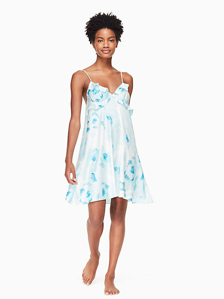floral charmeuse chemise by kate spade new york