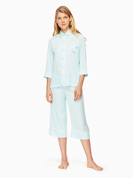 mrs. charmeuse crop pj set by kate spade new york