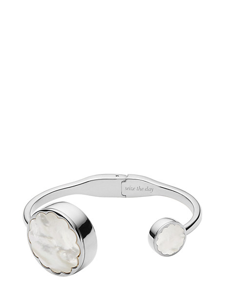 Kate Spade Scallop Hinge Bangle Tracker, Stainless Steel
