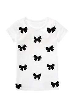 Girls Tompe L'oeil Bow Tee by kate spade new york