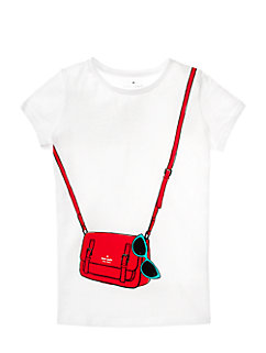 Girls' Trompe L'oeil Sunny Essentials Tee by kate spade new york
