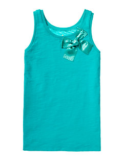Girls' Satin Bow Tank by kate spade new york