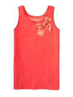 Girls Satin Bow Tank by kate spade new york