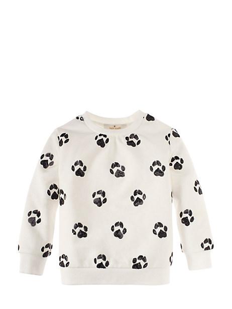 kate spade embellished paw print sweatshirt