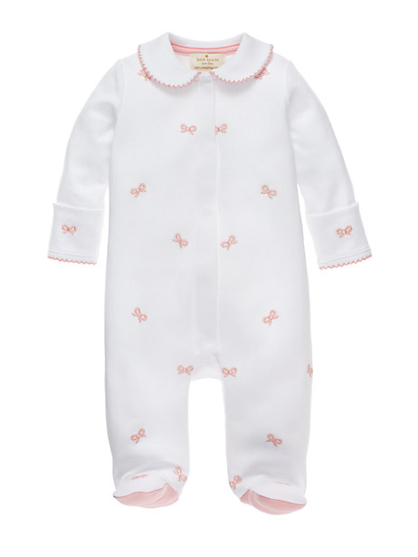 Cuteness overload!  This kate spade baby bow footie is absolutely darling!