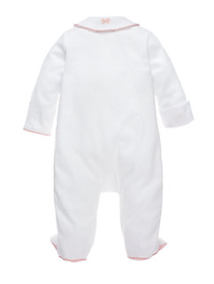 layette schiffli bow footie by kate spade new york