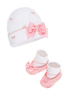 layette cap & bootie set by kate spade new york