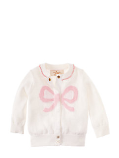 layette intarsia bow cardigan by kate spade new york