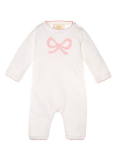 layette intarsia bow coverall by kate spade new york