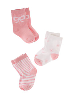 layette three-pack socks by kate spade new york