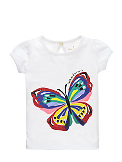 girls' brushstroke butterfly tee by kate spade new york