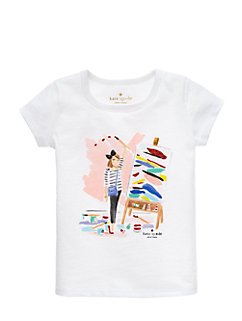 girls' caitlin tee by kate spade new york