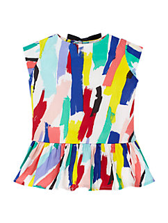 girls' peplum top by kate spade new york