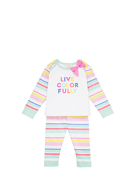 Kate Spade Layette Live Colorfully Two Piece Set, Cape Stripe - Size 3M