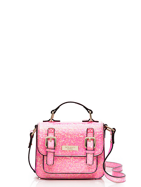 Kate Spade Kids' Glitter Scout Cross Body, Coral Glitter