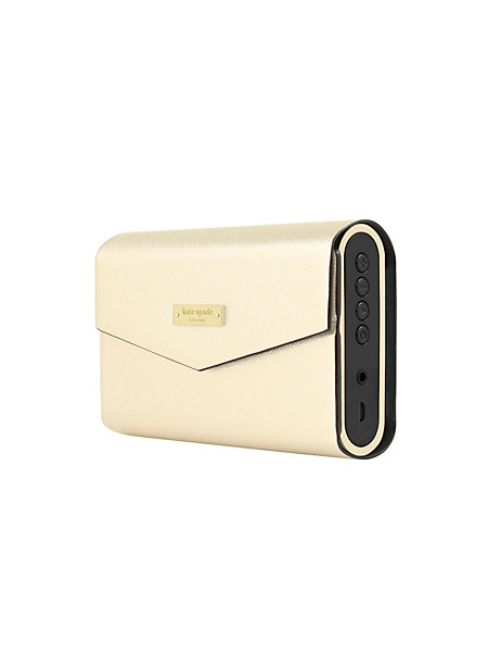 Kate Spade Portable Wireless Speakers With Cover, Gold/Black