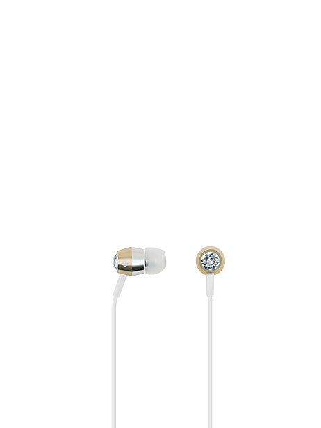crystal gold ear buds by kate spade new york