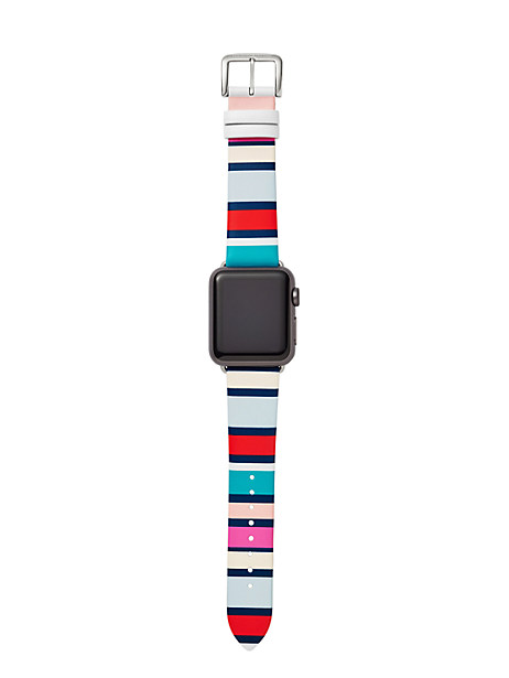 Kate Spade leather Apple Watch® strap, Stainless Steel