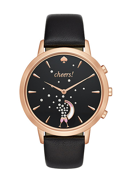 Kate Spade Black And Rose Hybrid Smartwatch, Black/Rose Gold