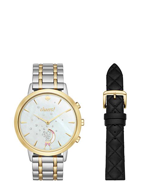 Kate Spade Hybrid Smartwatch Box Set, Two Tone Gold