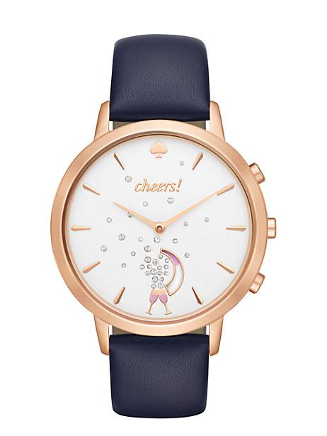 Kate Spade Metro Grand Smart Watch, Navy/Rose Gold