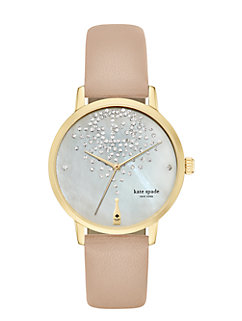 champagne at midnight metro watch by kate spade new york