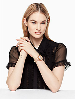 vachetta heart metro watch by kate spade new york