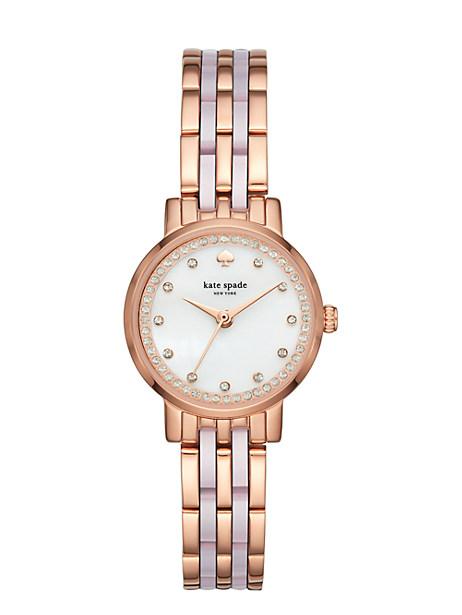 Kate Spade Mini Monterey Watch, Rose Gold/Rose