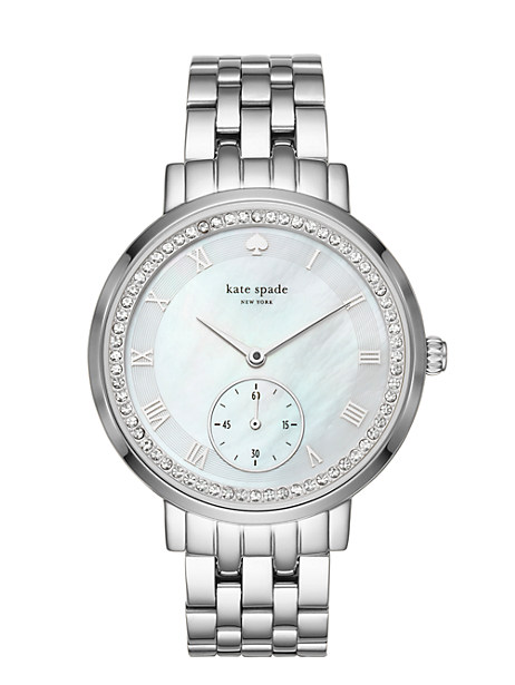 Kate Spade Stainless Pave Monterey Multifunction Watch, Stainless Steel