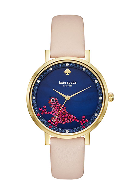 Kate Spade Frog Monterey Watch, Vachetta/Gold