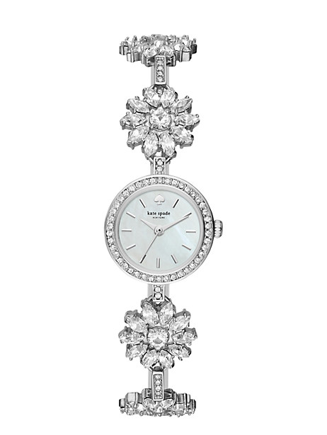 stainless daisy chain  watch by kate spade new york