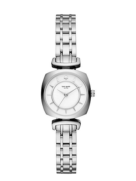 Kate Spade Stainless Mini Barrow Watch, Clocktower Grey/Stainless Steel