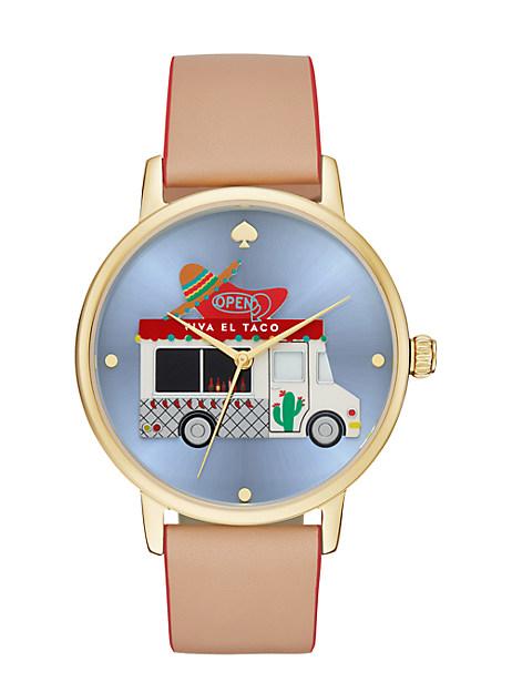 Kate Spade Taco Truck Metro Grand Watch, Vachetta/Gold