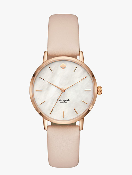Kate Spade Rose Gold Metro Watch, Vachetta/Rose Gold