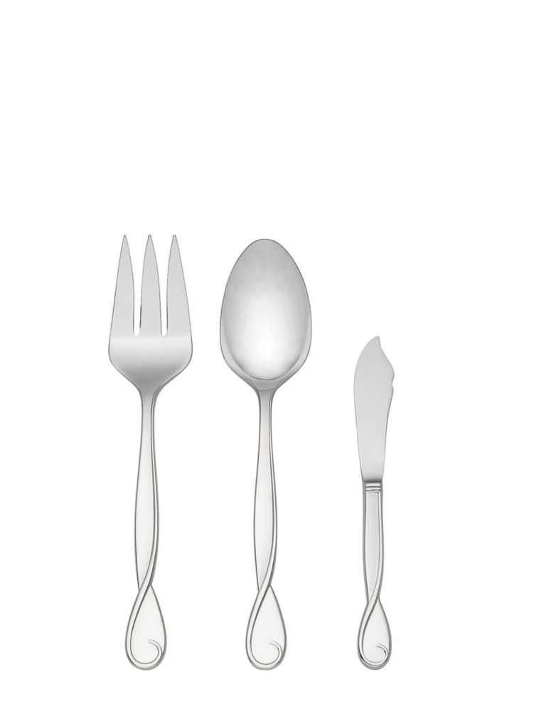 belle boulevard three-piece serving set