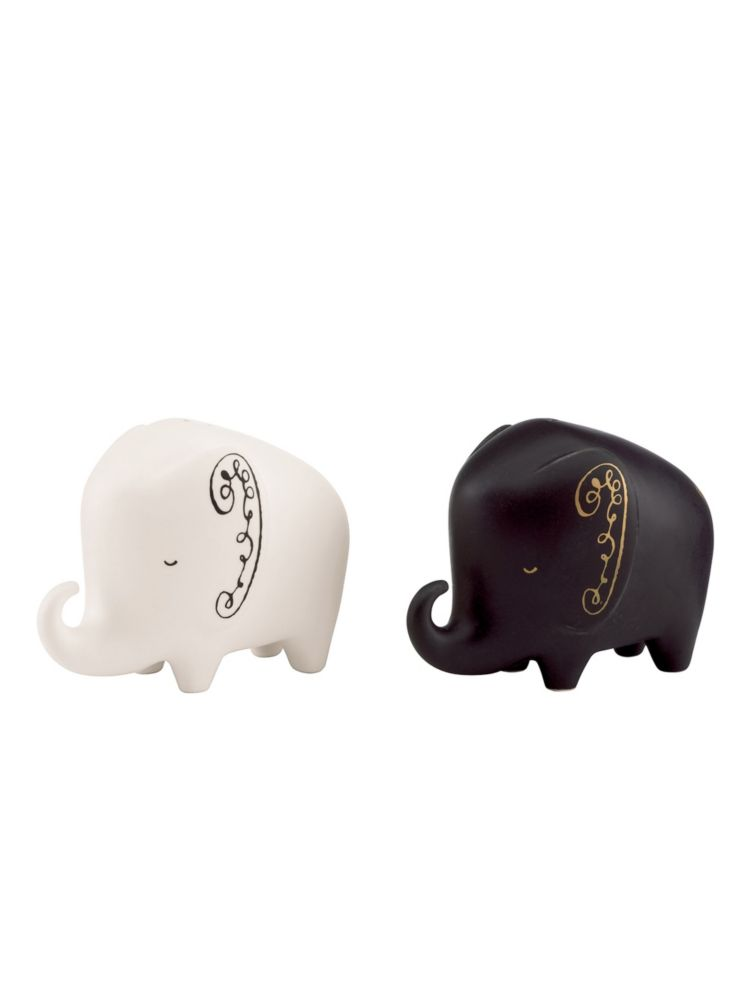 woodland park elephant salt & pepper set