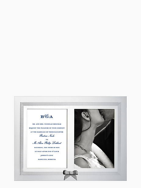 grace avenue double invitation frame by kate spade new york